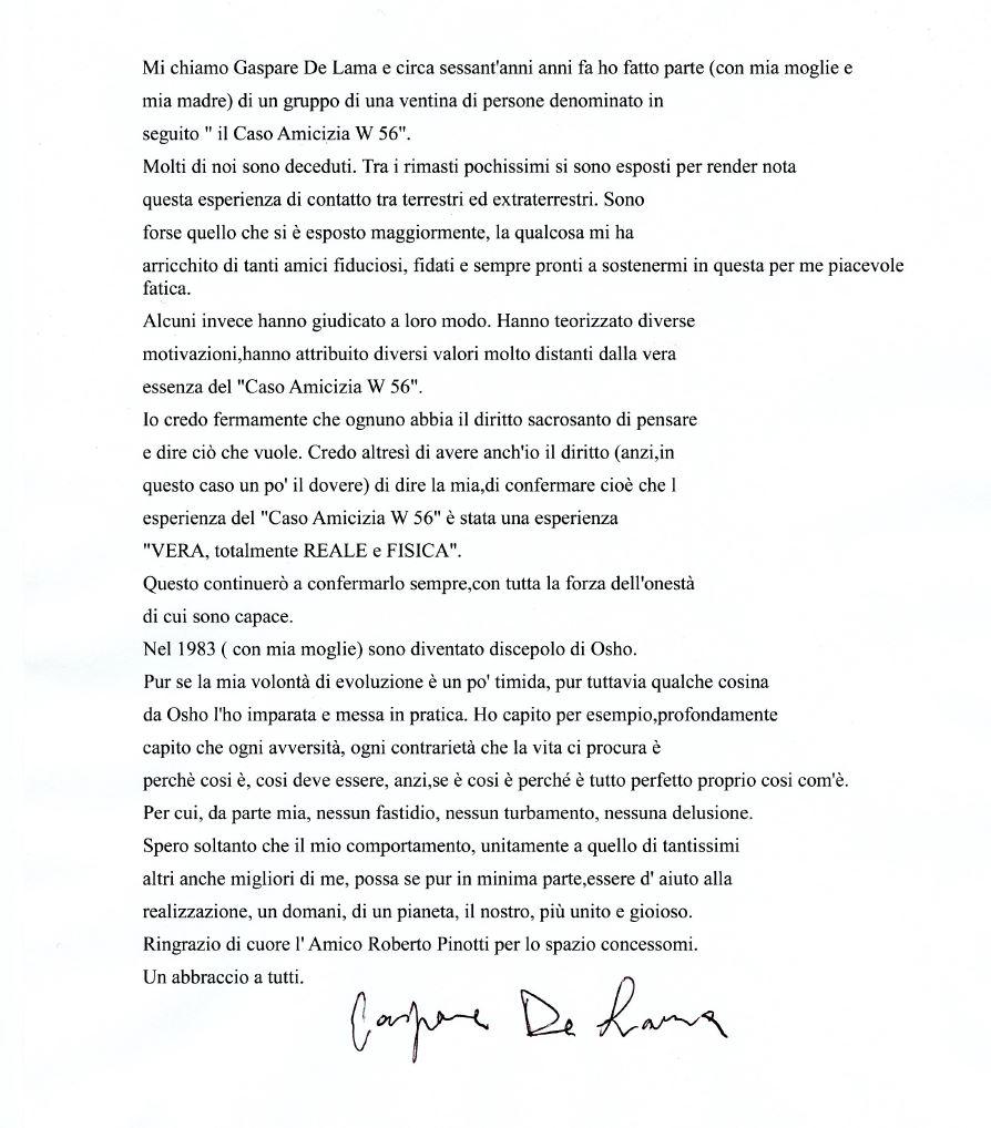 lettera aperta De Lama